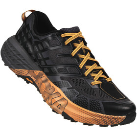 Hoka One One M's Speedgoat 2 Running Shoes Black/Kumquat